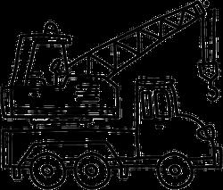 Excavator Tractor Illustration Hand Drawn Sticker