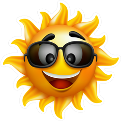 Excited Sun Face Sticker