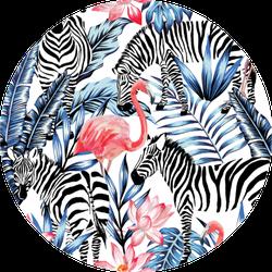 Exotic Pink Pattern With Zebra Sticker
