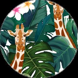 Exotic Summer Print Giraffe Sticker