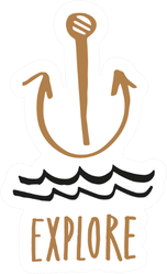 Explore Anchor Sticker