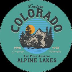 Explore Colorado Alpine Lakes Sticker