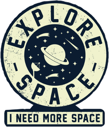 Explore Space Badge Sticker