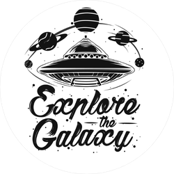 Explore the Galaxy Alien Sticker