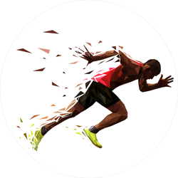 Explosive Athlete Running Sticker