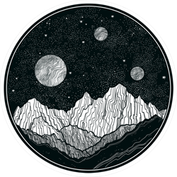 Extraterrestrial Night Sky Sticker