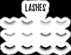Eye Lashes Icon Sticker
