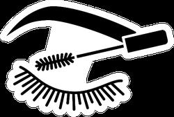 Eyelash Mascara Icon Sticker