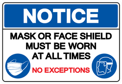 Face Mask At All Time No Exceptions Sticker