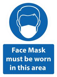 Face Mask Must be Worn in this Area Sticker
