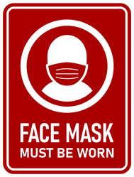 Face Mask Must Be Worn Sticker