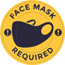 Face Mask Required Door Sticker