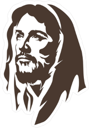 Face Of Jesus Sticker