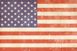 Faded Vintage American Flag Sticker