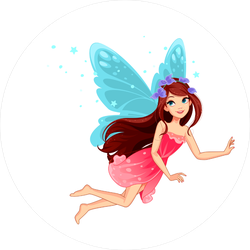 Fairy Flying Among The Stars Sticker