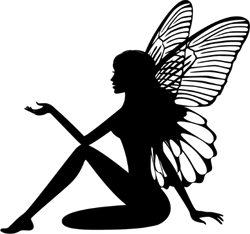 Fairy Silhouette Sticker