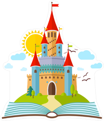 Fairy Tale Book Castle Sticker