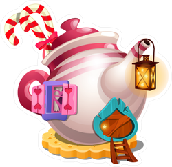 Fairy Tale Teapot Sticker