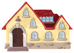 Fairy Tale Wooden House Sticker