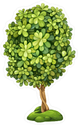 Fairy Tree On The Hill With Moss Sticker