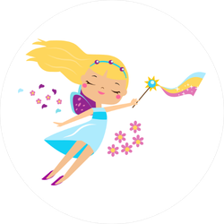 Fairy with Rainbow Wand Sticker