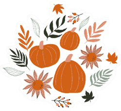 Fall Autumn COncepts Illustration Sticker