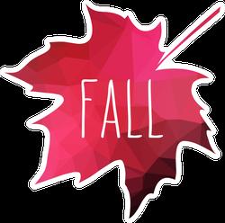 Fall Maple Leaf Sticker