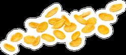 Falling Corn Flakes Sticker