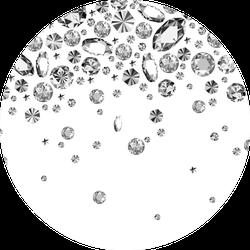 Falling Gems Abstract Background Illustration Diamonds Jeweler Sticker