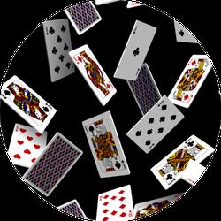 Falling Playing Cards Seamless Pattern Sticker