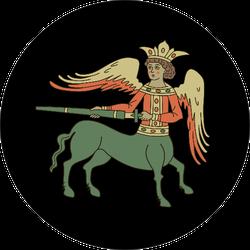 Fantastic Old Russian Winged Centaur Sticker