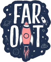 Far Out Space Sticker