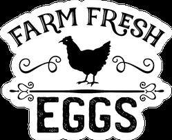 Farm Fresh Eggs Chicken Kitchen Sticker