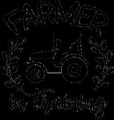 Farmer In Training Tractor Illustration Stickr