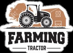Farming Tractor Illustration Sticker