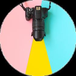 Fashion Film Camera Colorful Photography Sticker