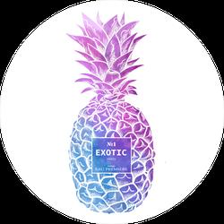 Fashion Illustration Style Pineapple Sticker