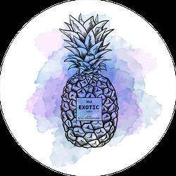 Fashion Illustration Watercolor Pineapple Sticker