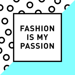 """""""fashion Is My Passion"""" Lettering Sticker"""