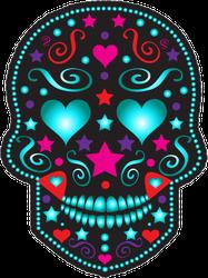 Fashion Sugar Skull Sticker
