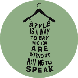 Fashion Woman Dress From Words Sticker