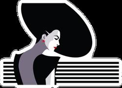 Fashion Woman In Style Pop Art Sticker