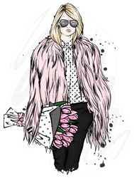 Fashionable Clothes And Accessories Sticker