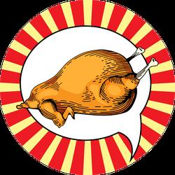 Fast Food Chicken Illustration In Pop Art Style Sticker