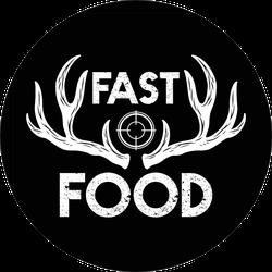 Fast Food Deer Hunting Text Sticker