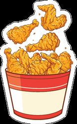 Fast Food Fried Chicken Basket Illustration Sticker
