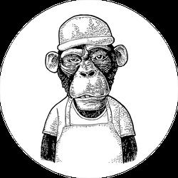 Fast Food Monkey Sticker