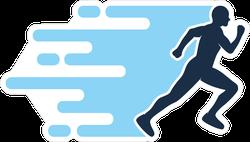 Fast Running Logo Sticker