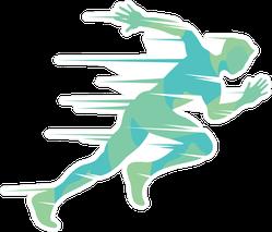Fast Sprint Runner Sticker