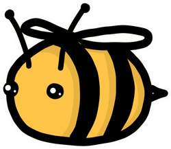 Fat Bumble Bee Sticker